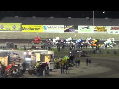 Kyle Larson, B-Main Event, World of Outlaws, Knoxville Raceway, May 11, 2013