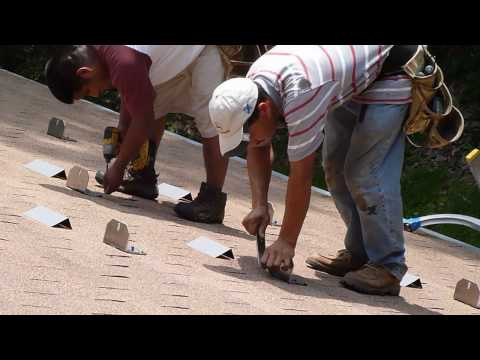 Photovoltaic solar panel installation (in HD)