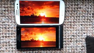 Quality comparison Super AMOLED vs BRAVIA, Galaxy S3 vs XPERIA S, Samsung vs Sony