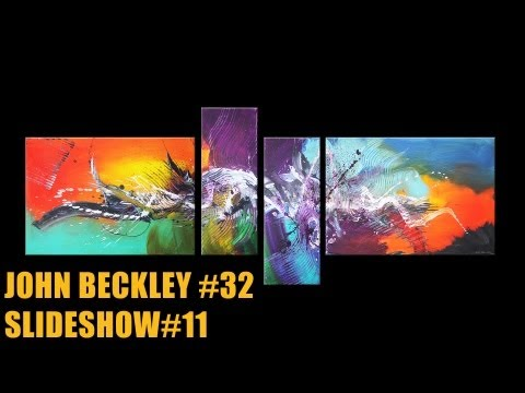 Abstract painting Slideshow #11 HD Video - John Beckley