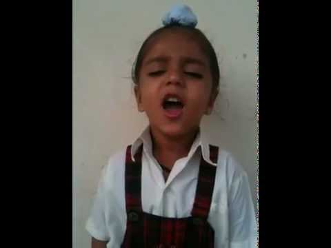 small child singing Jan Gan Man (Indian National Anthem)...VERY...