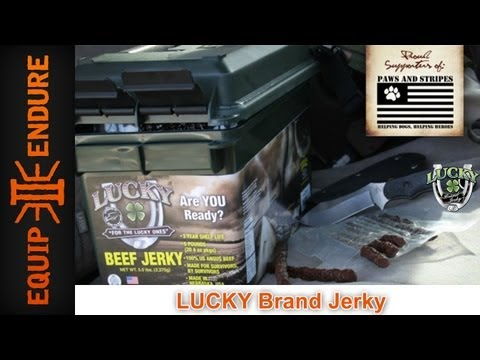 Survival Food for Your Bug Out Bag! Lucky Beef Jerky by Equip 2 Endure