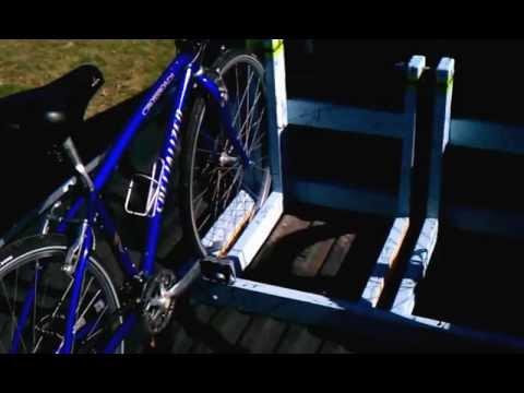 Homemade truck bed bike rack hauler