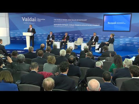LIVE: Putin addresses global politics at the Valdai club