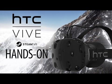 HTC VIVE Gameplay Hands-On - Steam VR - Portal VR, Everest VR & Elite Dangerous