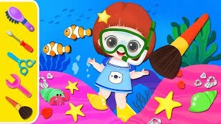 Baby Doli under the Sea play and baby doll beauty toys play