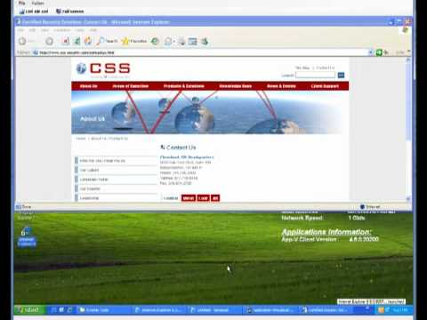 App-V: Virtual Internet Explorer 8 on Windows XP