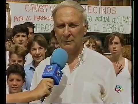 ALHÓNDIGA DE LA MEMORIA. Pedro Cid en las noticias de Tele Madrid, septiembre de 1991.