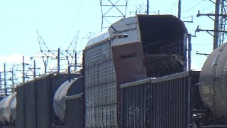 Damaged Autorack Car With Severe Truck Hunting on CSX Train