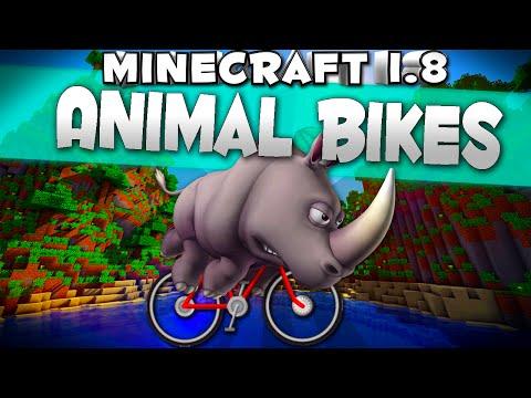 Minecraft Mod 1.8 : 'Animal Bikes Mod'