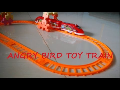 VIDEO FOR KIDS / CHILDREN - Angry Bird Toy Train For Christmas Gift [FULL HD]