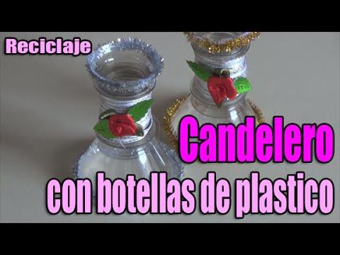 Como hacer un candelero reutilizando botellas de pl stico - Como hacer candelabros ...