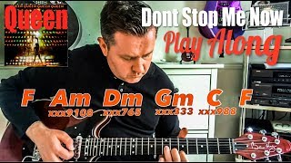 Queen - Don't Stop Me Now (Long Lost Guitars) - Guitar Play Along (Guitar Tab)