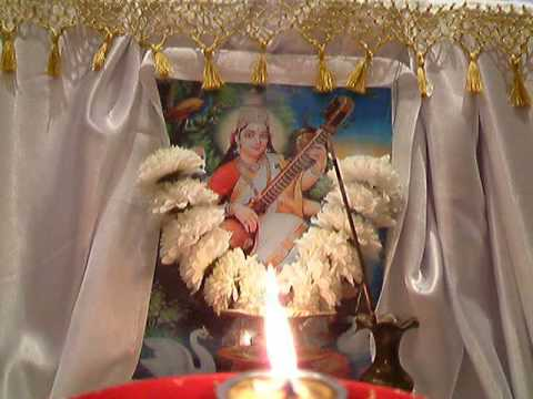 SARASVATI MAA AARTI With Virtual View & Real Aarti Flame OM...