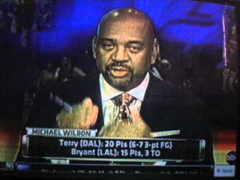 2011 NBA Playoffs Game 4 Halftime Report with Magic Johnson on Lakers vs Mavericks