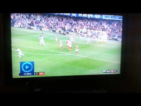 Niko Kranjcar amazing freekick QPR v Stoke City