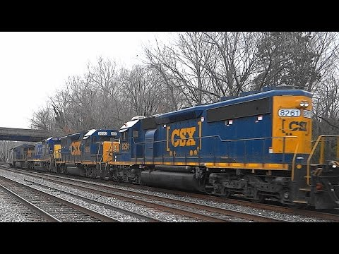 Nice Power On CSX Q398 Freight Train