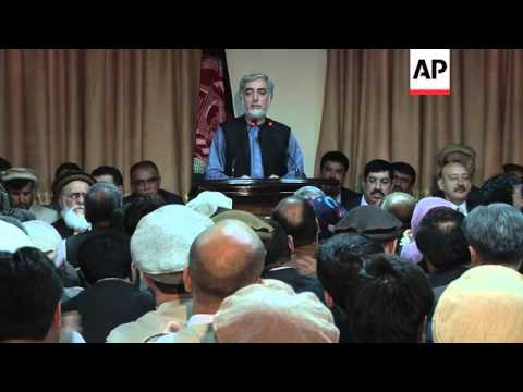 "Abdullah declares the negotiations deadlocked and ""will not accept fraud"""