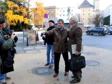 Osesp Turnê Europa 2010 - Traquinagens Claudio Cruz e foto com maestro em Salzburg