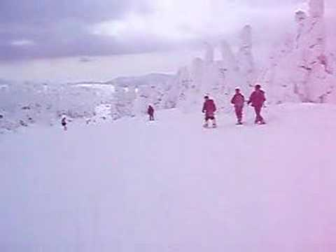 【20080302】蔵王温泉スキー場樹氷原コースを滑る
