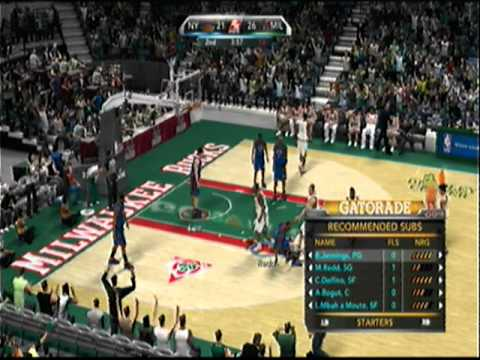 NBA 2k10 - uReach iTeach - Knicks (Fohawk Boy 07) -vs- Bux (boltokPwnage) Video