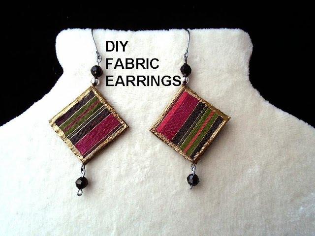 DIY FABRIC EARRINGS - paper beads - Jewelry Making