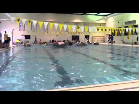 University of Waterloo Engineering Cardboard Boat Race heat 1