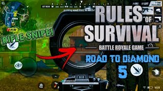 RIFLE SNIPE! - ROAD TO DIAMOND DIVISION RULES OF SURVIVAL GAMEPLAY #5