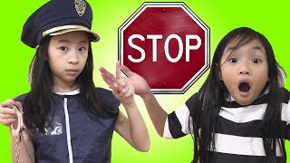 Pretend Play Police Go To JAIL If You Break The Police Rules
