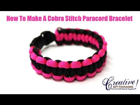 How to Make a 2 color Cobra Stich Paracord Bracelet