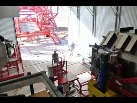 Loading the 3.5 ton HESS Gamma ray telescope camera(time lapse video)