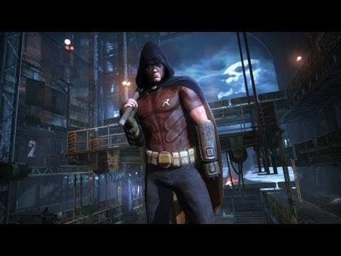 Batman Arkham City - Robin Gameplay on Iceberg Lounge Challenge Map