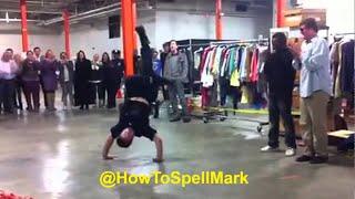 Policjant wyzywa tancerzy na bitwę