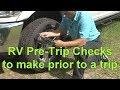 RV Pre-Trip Checks