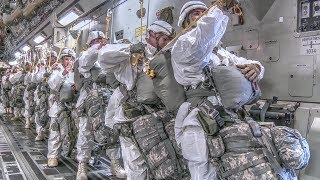 Arctic Drop: Airborne Soldiers & Heavy Cargo Drop Exercise