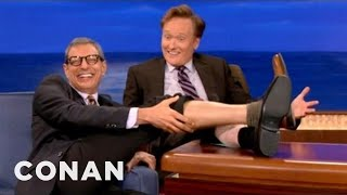 Jeff Goldblum Is Going Leg-Bald - CONAN on TBS