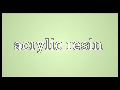 Header of acrylic resin