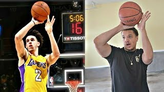 RECREATING NBA BASKETBALL SHOOTING FORMS!! (LONZO BALL, STEPH CURRY & MORE)