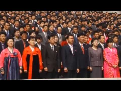 North Koreans celebrate Kim Jong un's re election as military chief