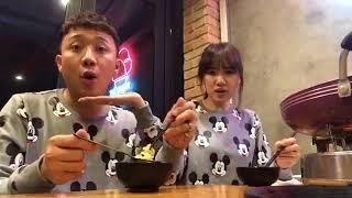 Trấn Thành Hari Won Mặc Áo Cặp Đi Ăn Lẩu Bò Phô Mai Hàn Quốc Mừng Hết Bệnh