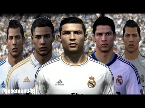 Cristiano RONALDO from FIFA 04 to FIFA 14 (PC, PS3, Xbox ONE) FACE Evolution