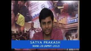 Aakash AIPMT Results 2012-Satya Prakash-Top Ranker (AIR-28) Delhi