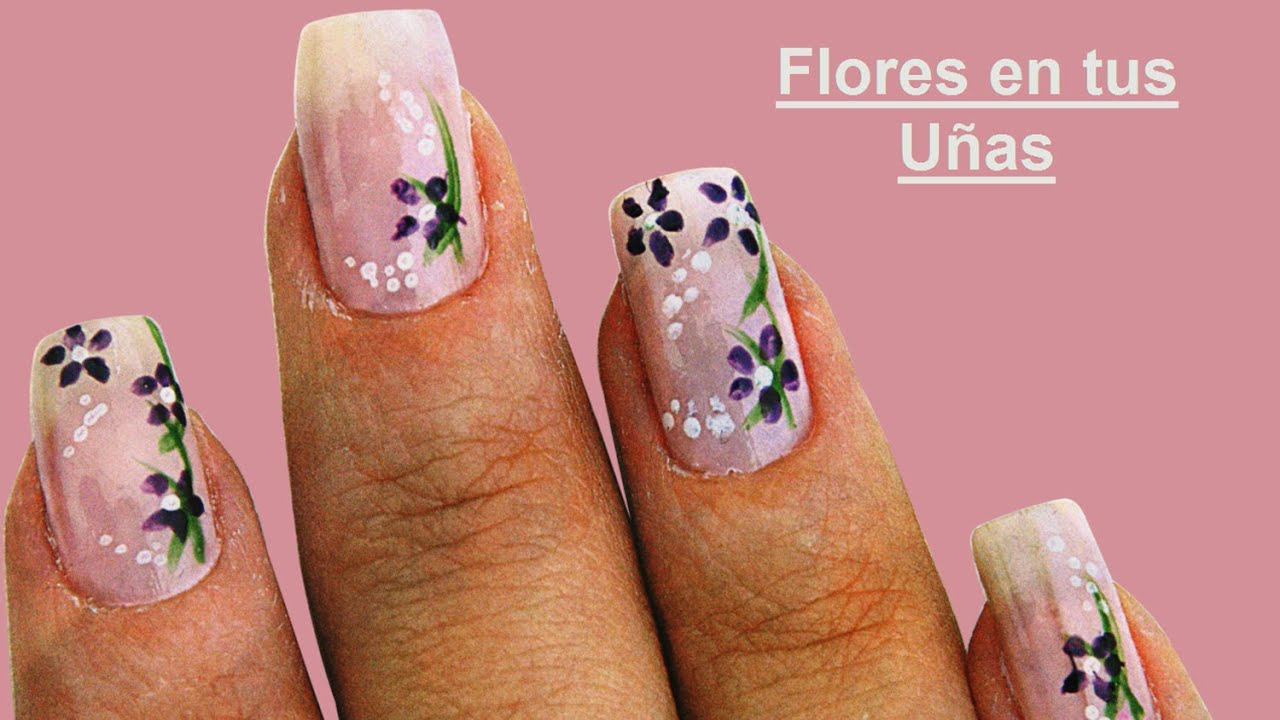 Fotos o imagenes de u as decoradas paso a paso con flores - Decoracion de unas fotos ...