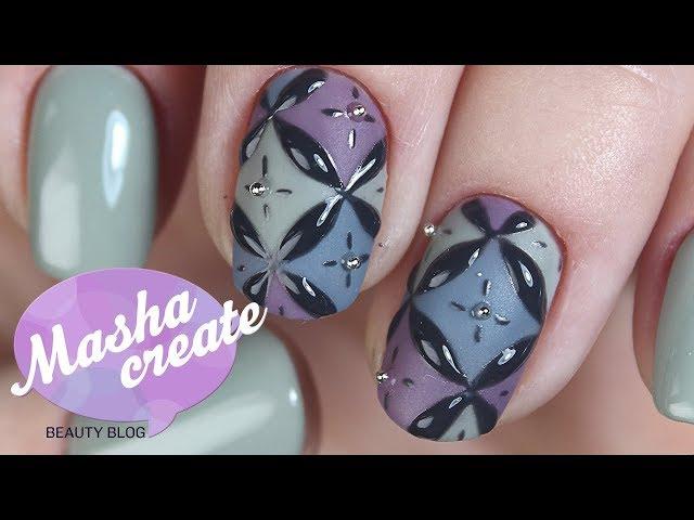 Простой маникюр с узорами на ногтях. Модный дизайн ногтей гель лаком PNB