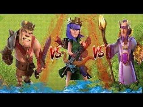 Barbarian king vs Archer Queen vs Grand warden ( Tri Series)