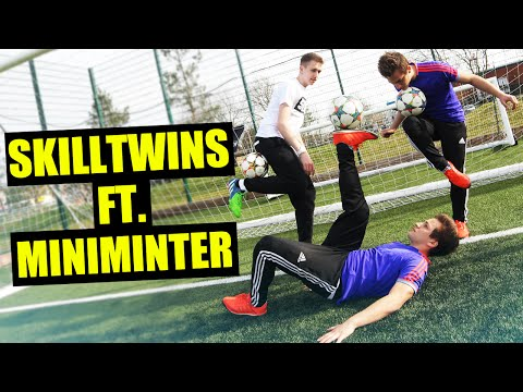 SkillTwins ft. Miniminter - AMAZING FOOTBALL SKILLS & TUTORIAL!