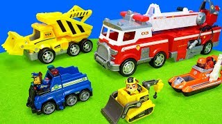 Paw Patrol Ultimate Fire Truck Playset   Toy Vehicles Unboxing Movie for Kids   Police Engine Cars