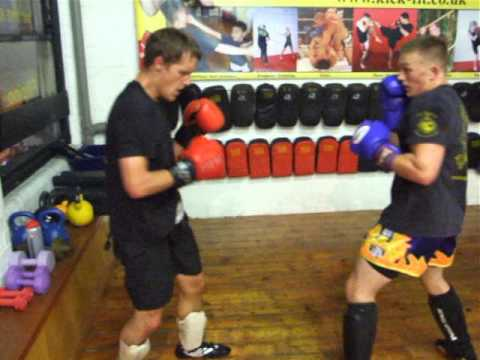 Steve and Paul Kickboxing sparring.Kickfit Martial Arts Academy,Nottingham,UK Image 1