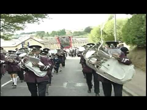 Dungannon Silver Band parading at the Last Saturday in August Black Parade in Dungannon on Saturday 30th August 2003 playing The Children of the Regiment march.