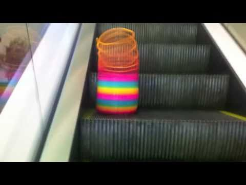 Slinky + Escalator = WIN